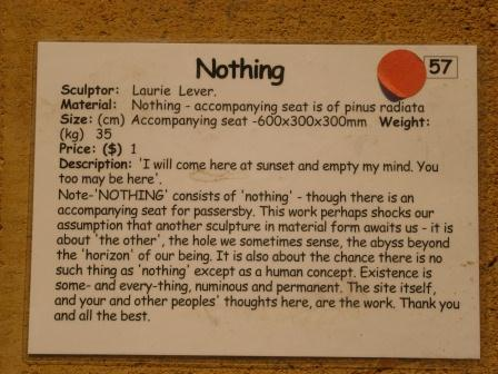Nothing sculptor's note